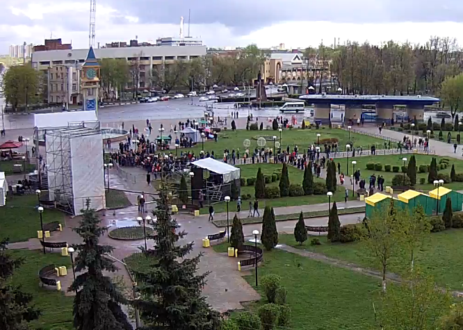 Начало концерта в сквере Поколений.