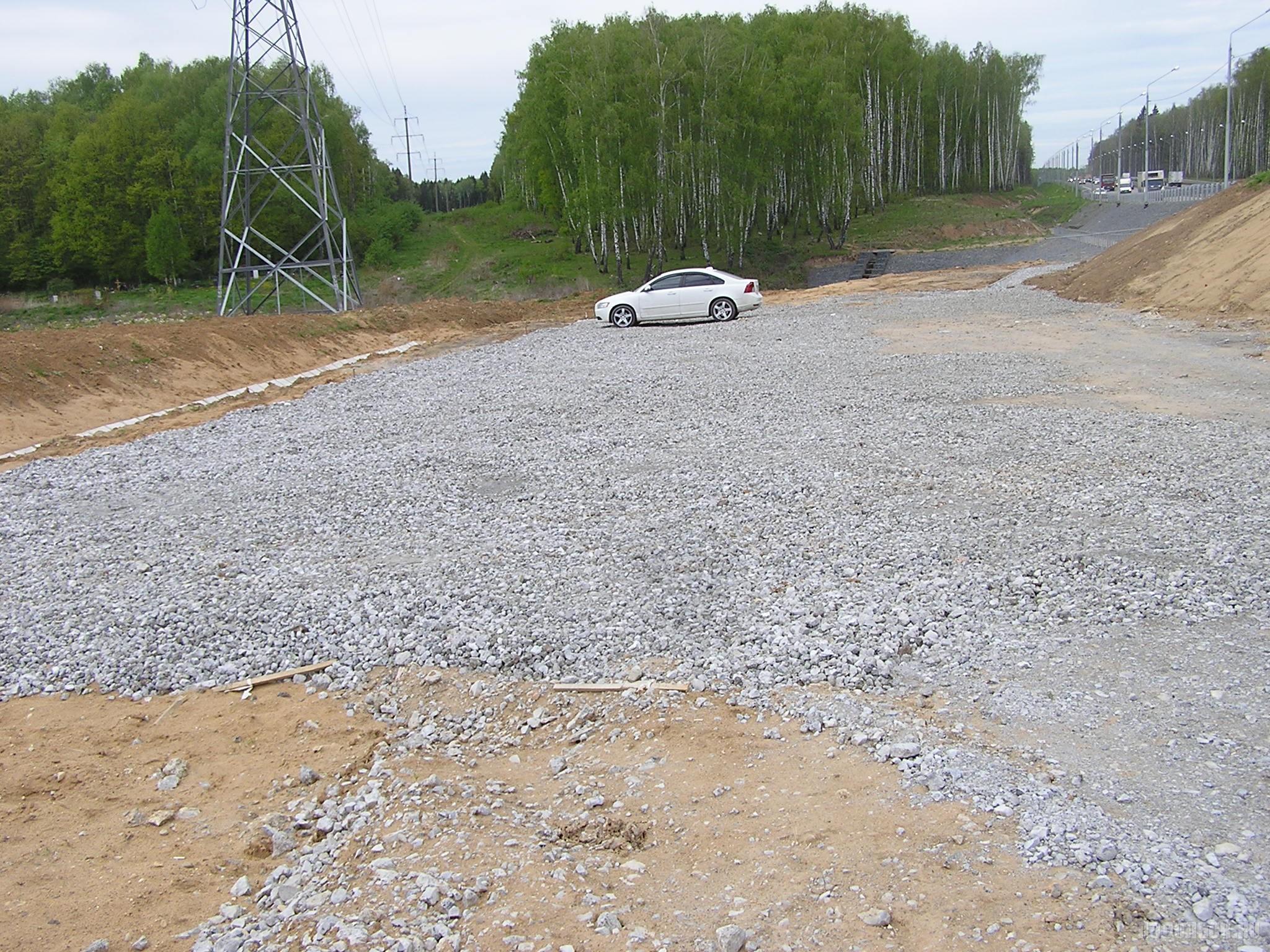 Дорога вдоль ЮО у Сергеевки