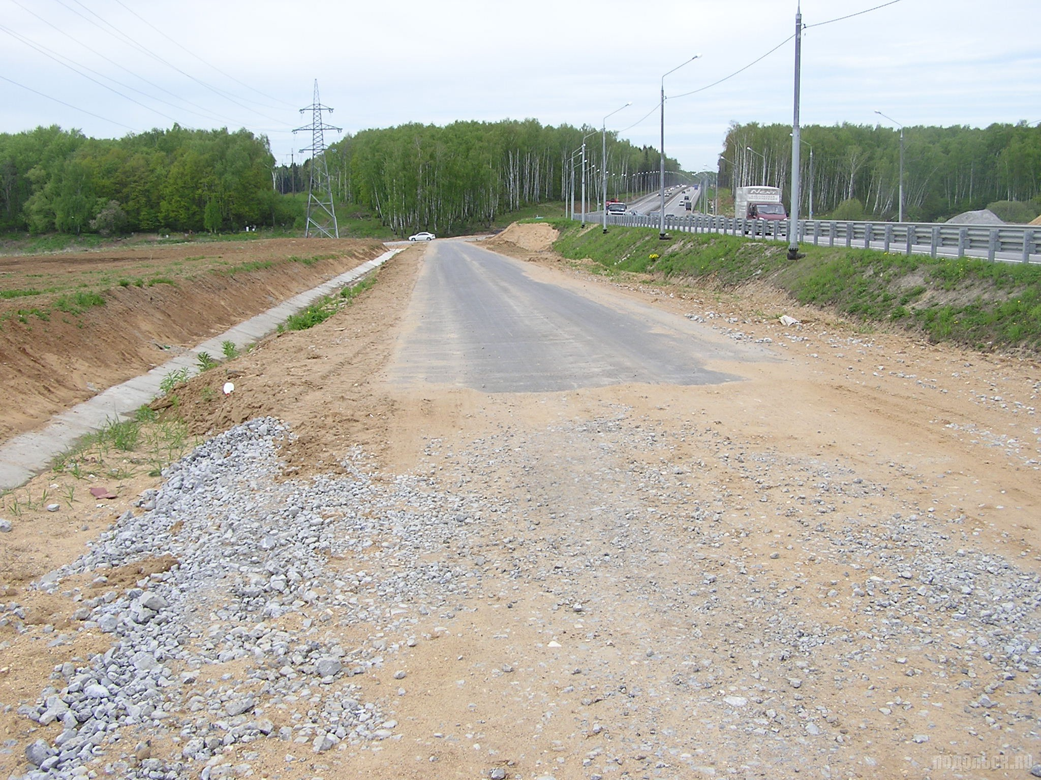 Дорога вдоль ЮО у Сергеевки. Май 2017