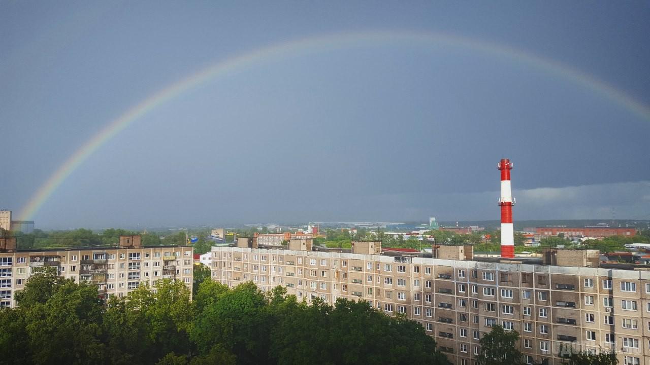 Радуга над Парковым. 21 июня 2017 г.