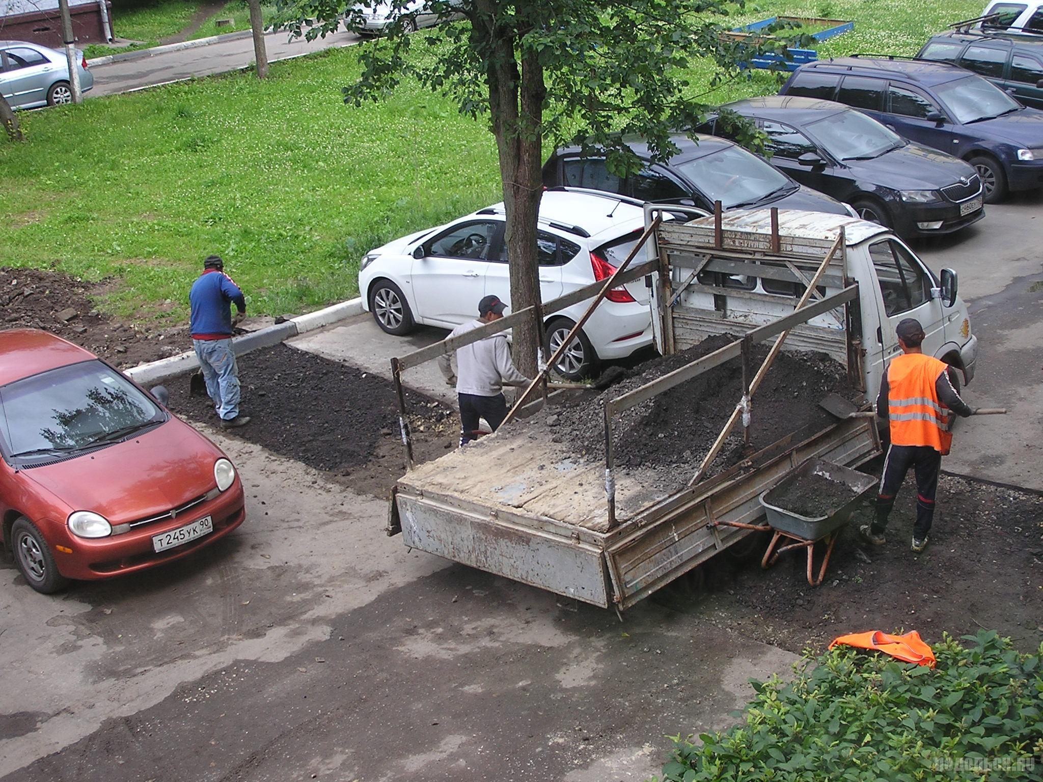Восстановление асфальта после ремонта теплотрассы. Июль 2017.