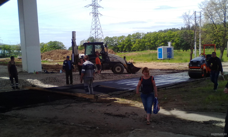 Восстановление дороги на Весенней. Июнь 2017.