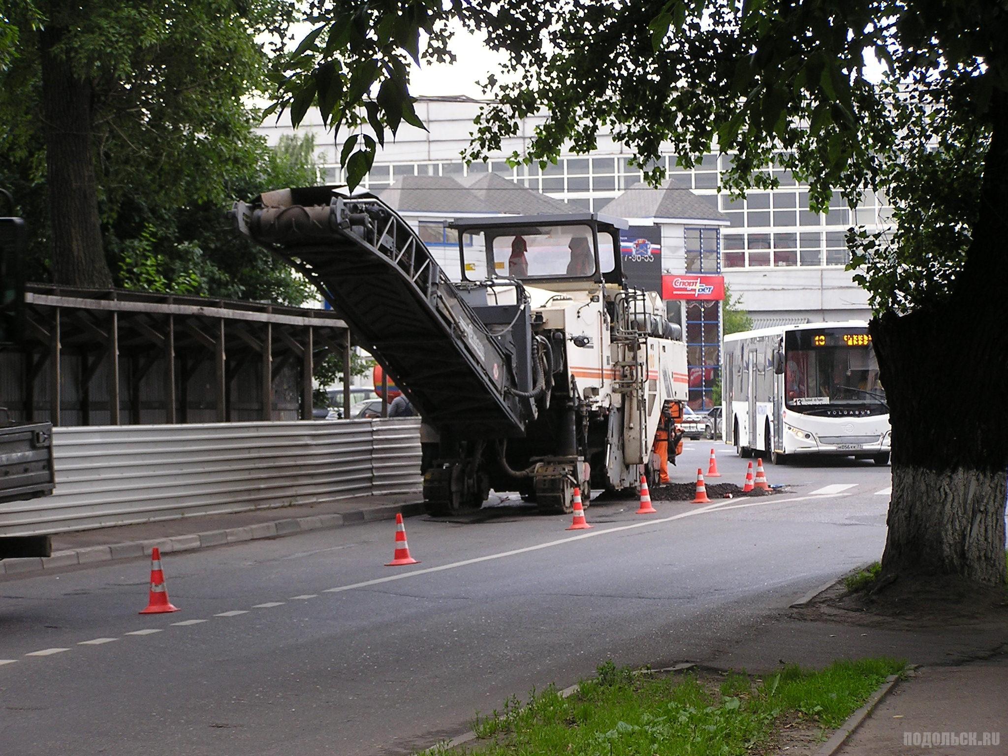 Ремонт дороги на улице Рабочей. Июль 2017.