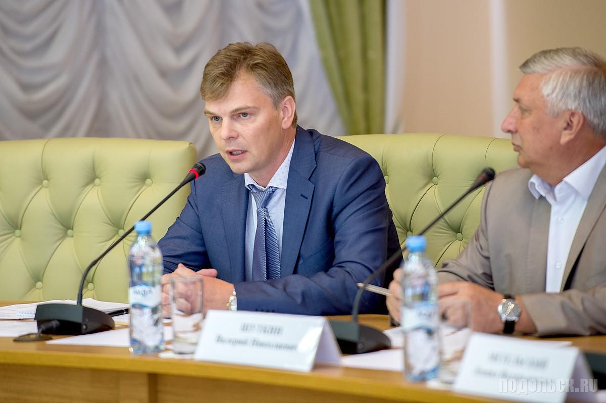Председатель Общественной палаты Подольска созыва 2017-2020 А. А. Панарин. 27.07.2017.
