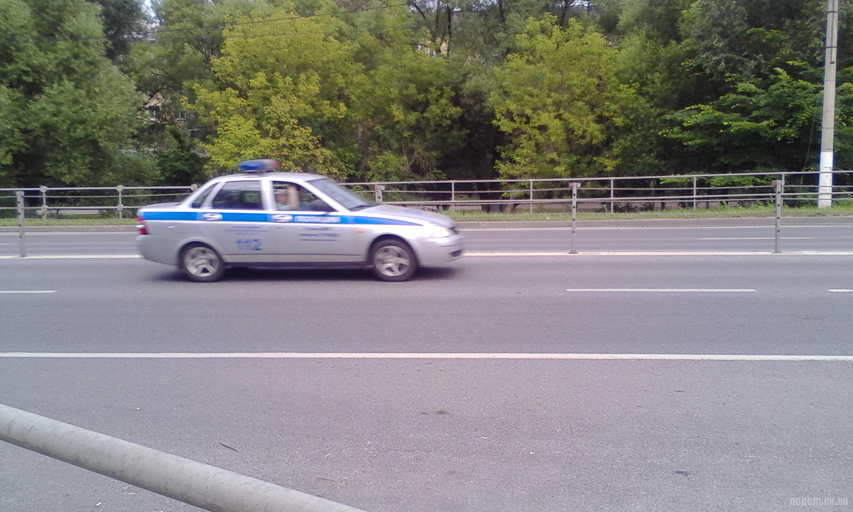 Машина полиции в Подольске. Июль 2017.