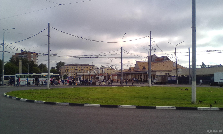Троллейбусный круг на станции Подольск. Июль 2017.