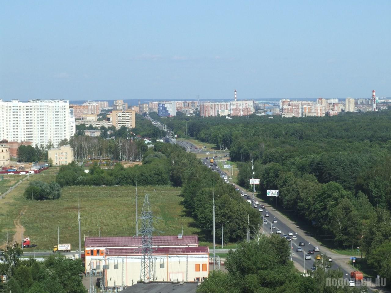 Варшавское шоссе у поселка Кузнечики. Август 2017.