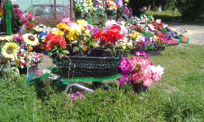 Цветы для кладбища. Сергеевка, август 2017.