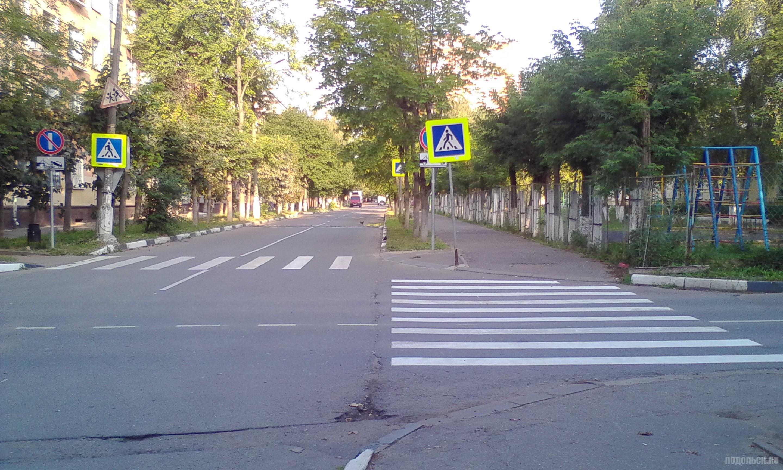 Пешеходный переход. Зебра. Ул. Дм. Холодова. Август 2017.