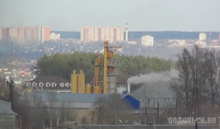 Асфальтовый завод в Подольске. Апрель 2017.