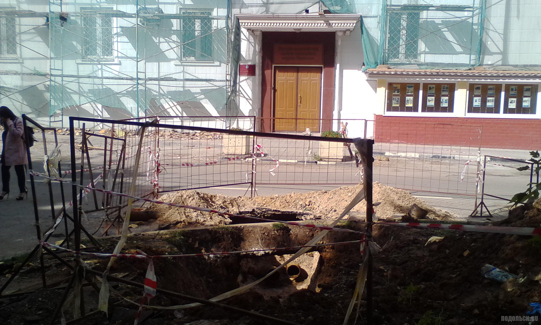 Раскопки теплотрассы на Совесткой улице. Сентябрь 2017.