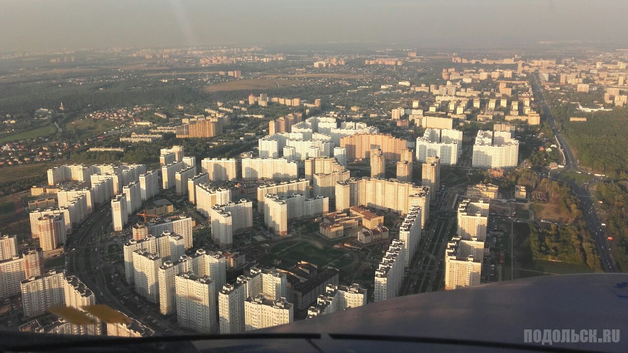 Вид из самолета на Кузнечики
