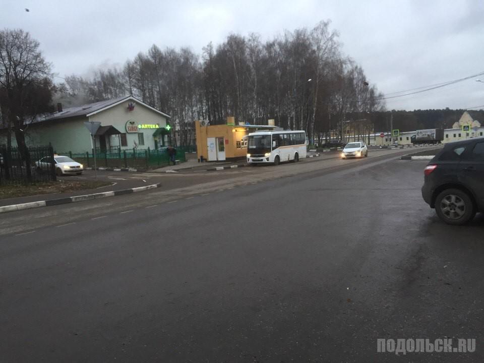 Автобус: Дубровицы - Подольск. Ноябрь 2017.