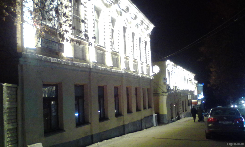 Проспект Ленина, архитектурная подсветка. 22.11.2017.
