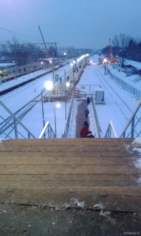 Деревянная платформа на Гривно. 7 декабря 2017 г. Строительство тоннеля.
