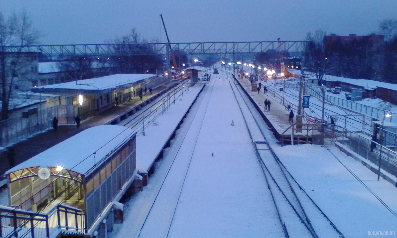 Деревянная платформа на Гривно. 7 декабря 2017 г.