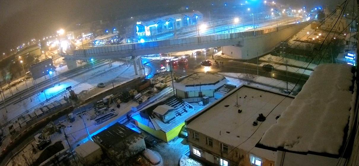 Щербинская эстакада. 9 декабря 2017 г.