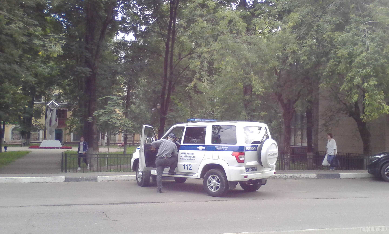 Машина полиции в Подольске.