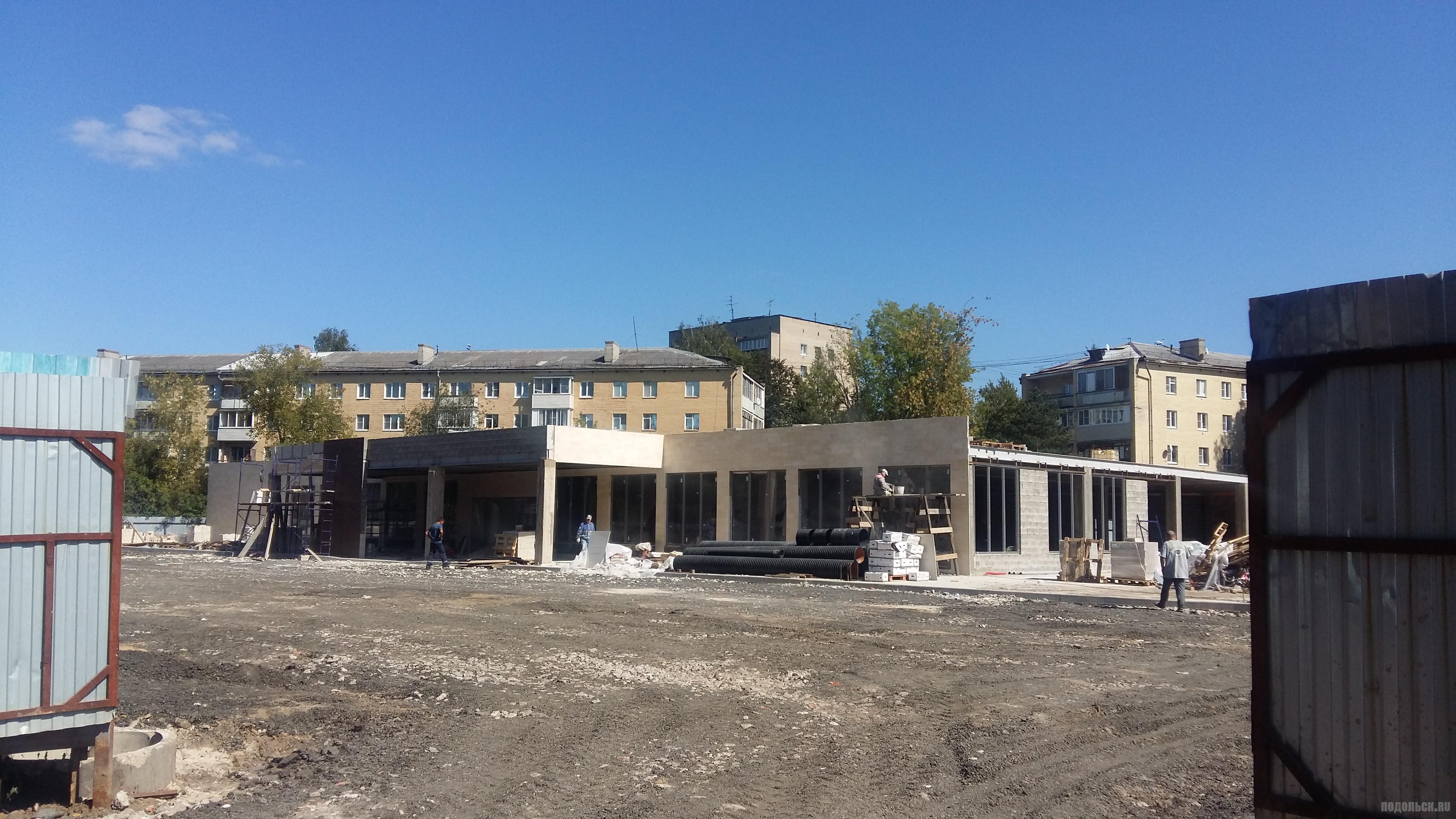 Строительство магазина на Симферопольской улице Климовска. Сентябрь 2018