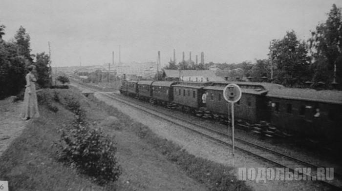 Станция Гривно. Дачный поезд на Москву, 1913 год