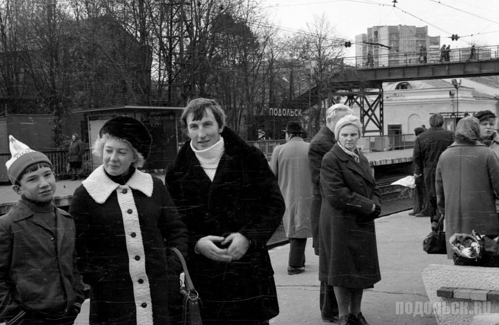 """На станции """"Подольск"""". 1981 г."""
