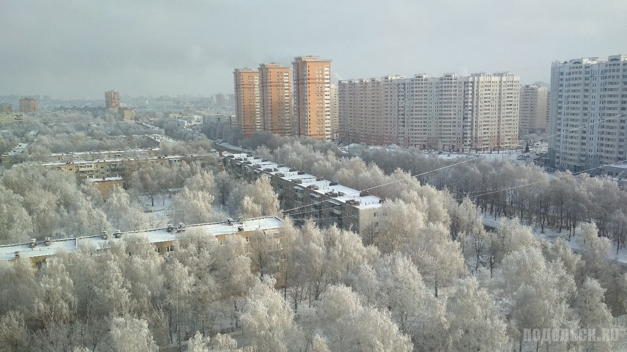 Вид на Ленинградскую улицу. 18.12.2018