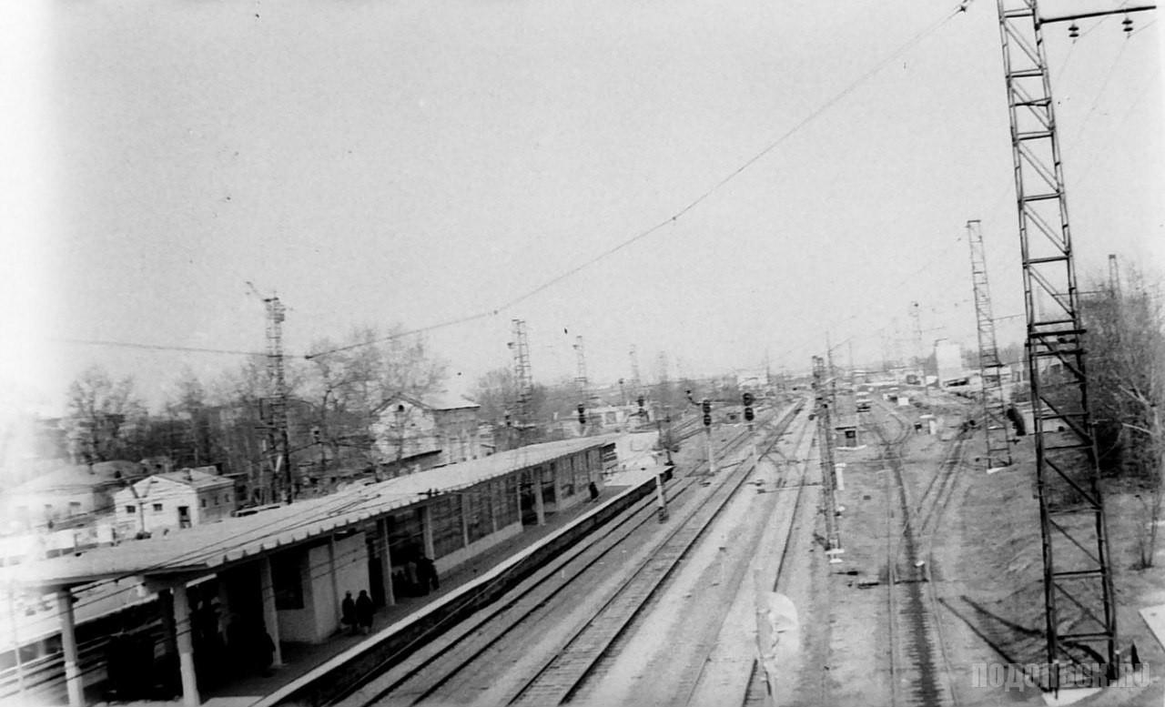 Вид на платформу станции Подольск. 1970-е гг.