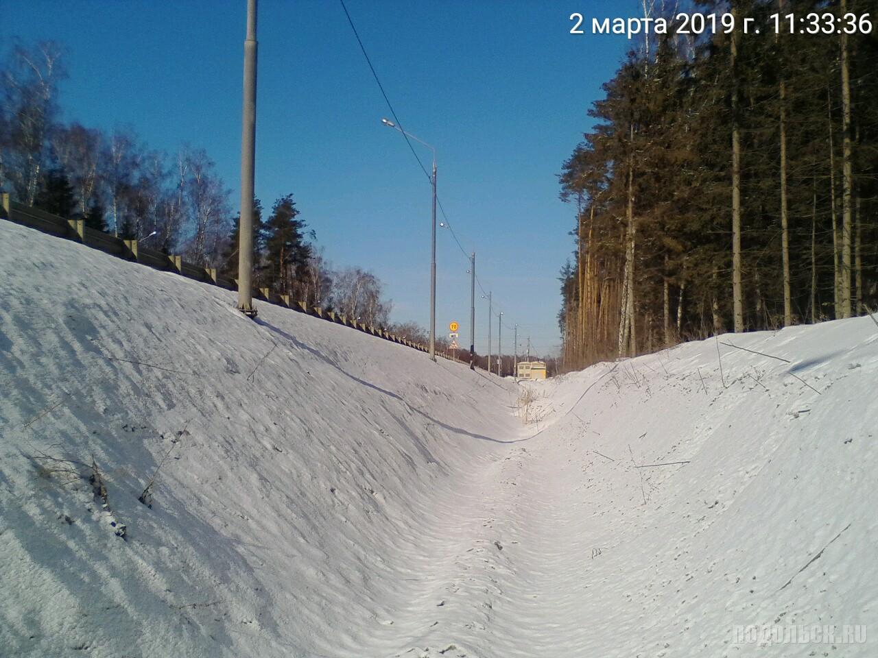 Ров со стороны д. Северово. 02.2019