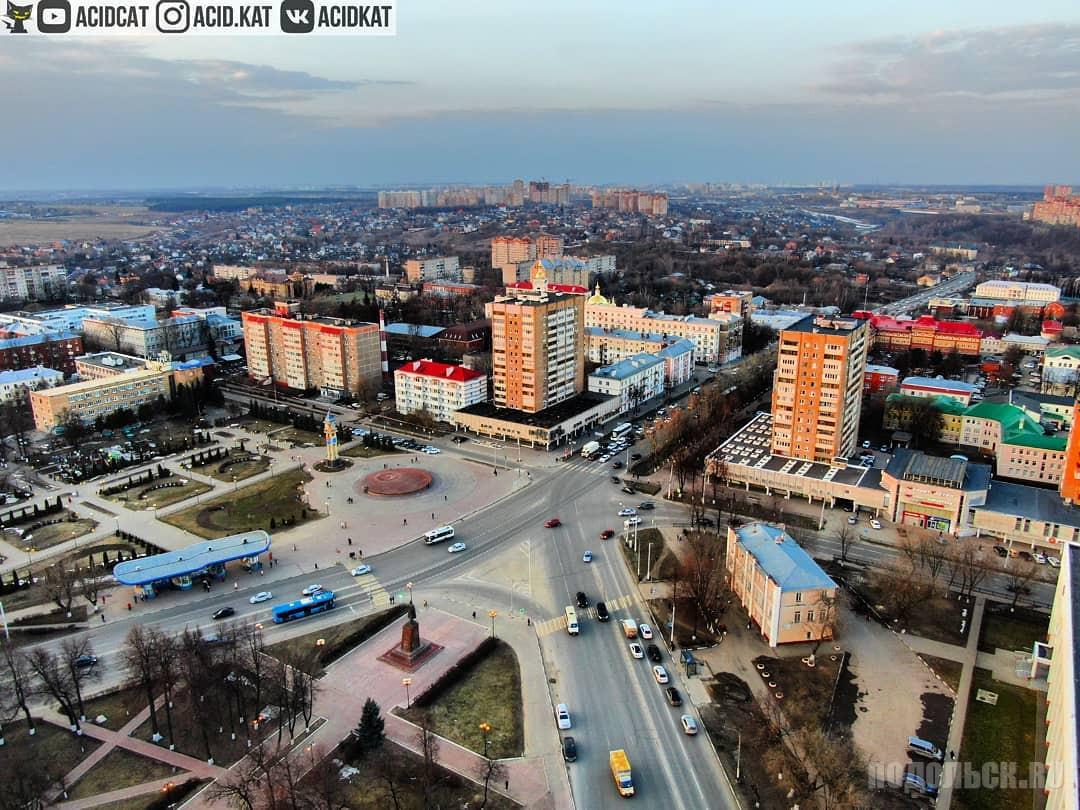 Вид на площадь Ленина. Апрель 2019