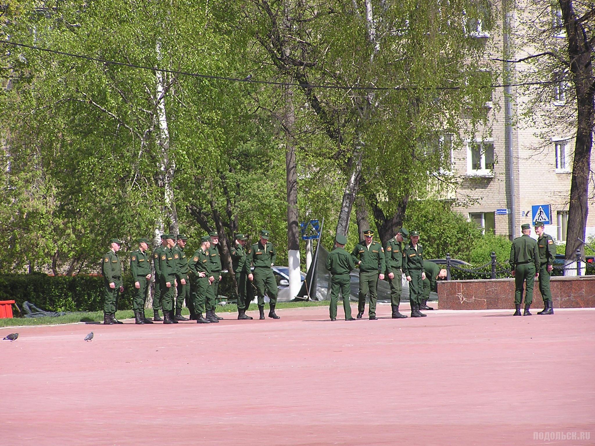 Репетиция военных на площади Славы. 6 мая 2019