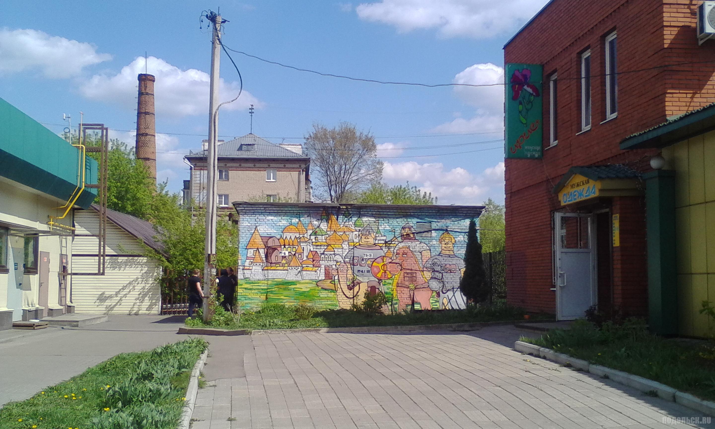 Комсомольская улица напротив рынка. 6 мая 2019