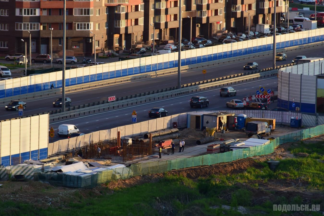 Строительство надземного перехода на Объездной дороге. 22.05.2019