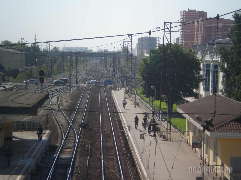 Щербинка: вид с жд моста в сторону Подольска