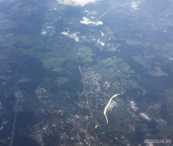 Подольск с высоты 10 500 метров