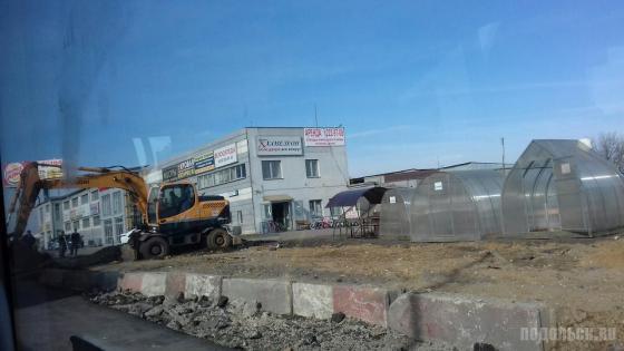 Реконструкция автодороги в Щербинке. Апрель 2018