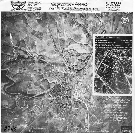 Немецкая аэрофотосъёмка от 26.10.1942 г.