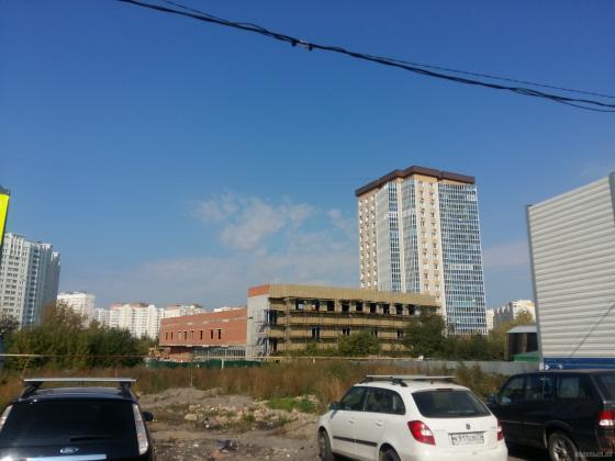 Строительство торгового центра на Юбилейной улице. 22.09.2018