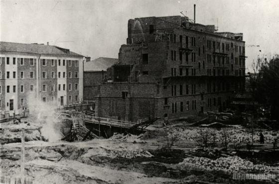 Строительство жилого дома № 54 на Февральской улице