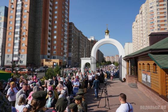 Мощи святого Спиридона Тримифунтского в Подольске. Сентябрь 2018
