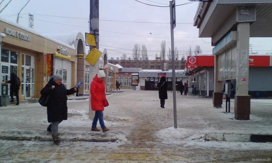 Вокзальная площадь Подольска 8 января 2019