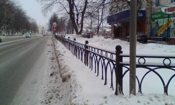 Ревпроспект у станции Подольск 8 января 2019 г.