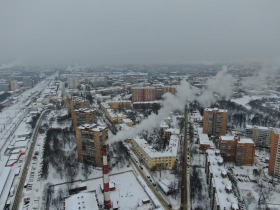 Вид на Парковый район 15 января 2019