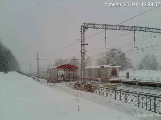 Строительство павильонов на платформе Весенняя. 02.2019