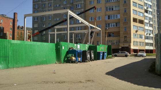 Строительство офисно-торгового центра на Вокзальной улице, 12. 24.04.2019