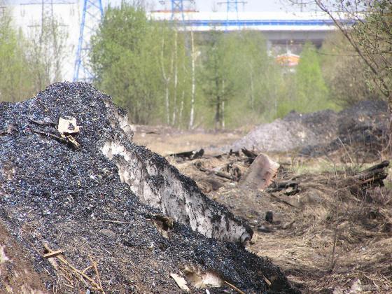 Снегосвалка у Сергеевского путепровода. 28.04.2019
