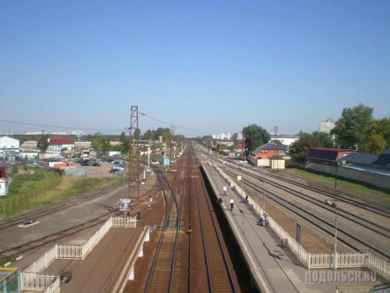 Щербинка: вид с жд моста в сторону Москвы